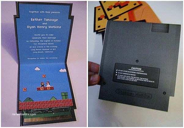 Nerdy Wedding Invitations Mario Wedding Invites Wedding Stuff I Love