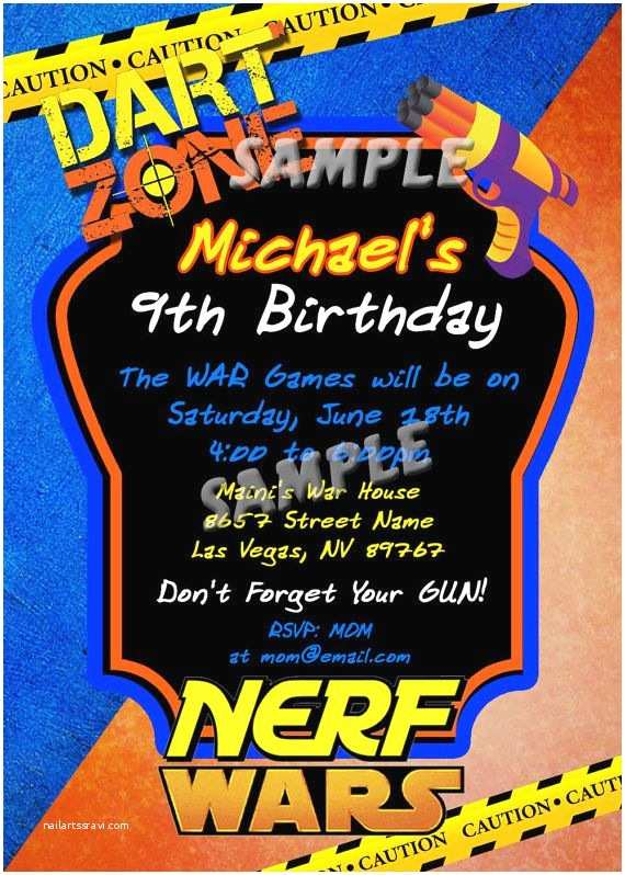 Nerf Birthday Party Invitations 55 Best Nerf Images On