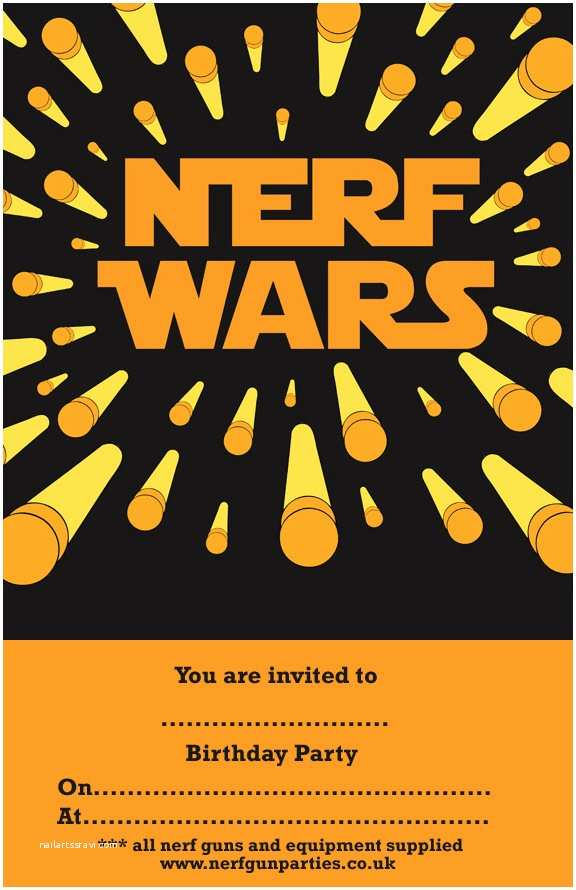 Nerf Birthday Party Invitations Nerf Gun  Prices & Bookings Nerf