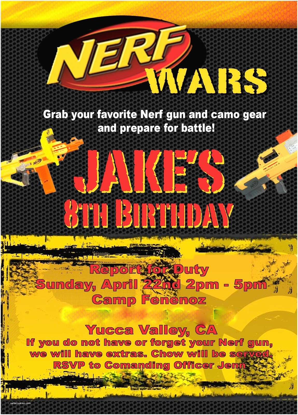 Nerf Birthday Party Invitations Staying In touch with the Funny Noses Nerf Wars Birthday