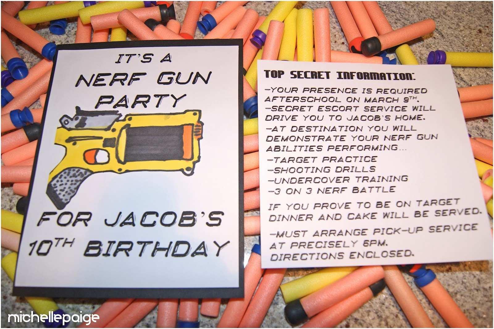 Nerf Gun Party Invitations Michelle Paige Blogs Nerf Gun Party