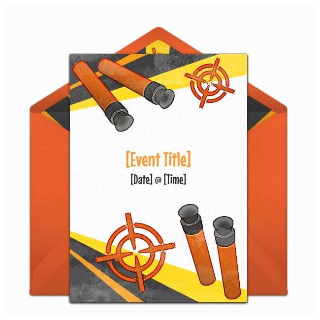 Nerf Party Invitations Best 25 Nerf Party Food Ideas On Pinterest