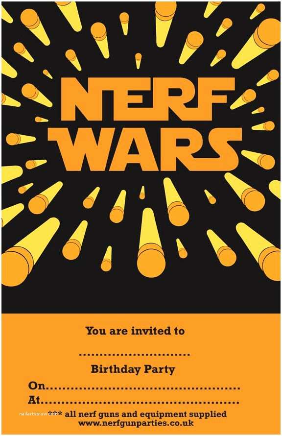 Nerf War Birthday Party Invitations 17 Best Images About Nerf Gun Party On Pinterest