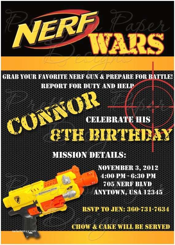 Nerf War Birthday Party Invitations 30 Best Nerf Party Ideas Images On Pinterest