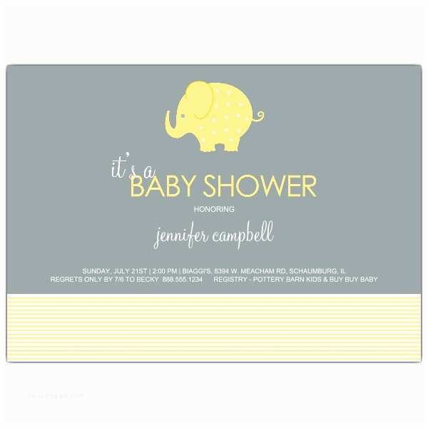Neutral Baby Shower Invitations Elephant Stripes Neutral Baby Shower Invitations