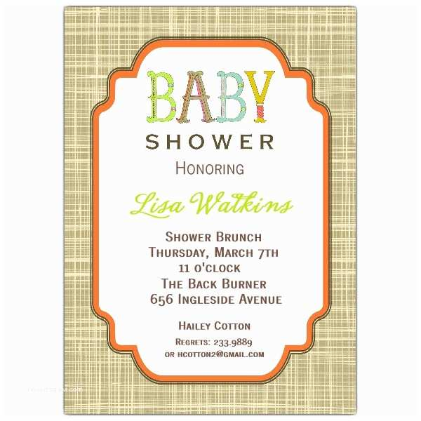 Neutral Baby Shower Invitations Letter Perfect Uni Baby Shower Invitations