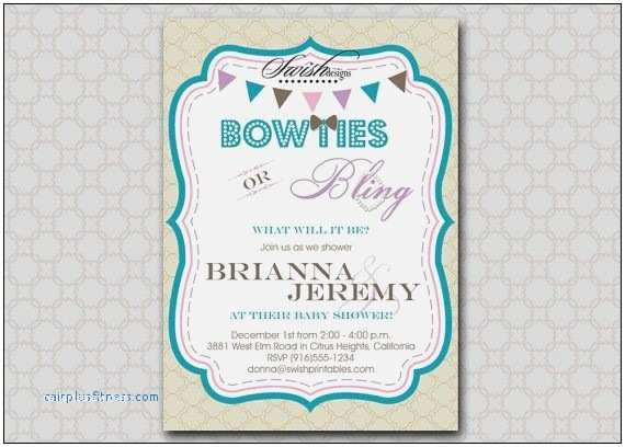 Neutral Baby Shower Invitations Neutral Baby Shower Invitation Cards Luxury Bow Ties and