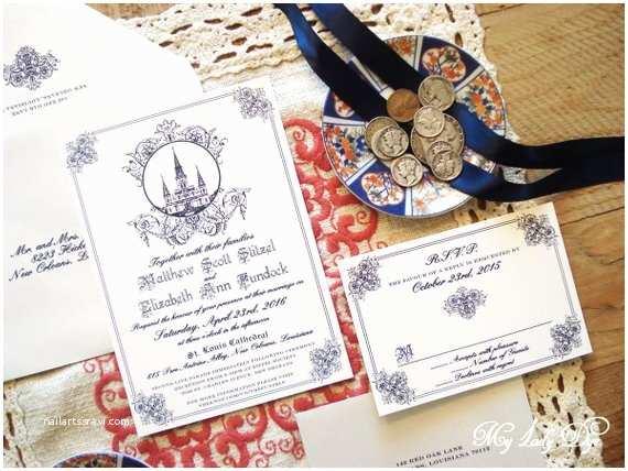 New orleans Wedding Invitations 100 Jackson Square New orleans Wedding Invitations St