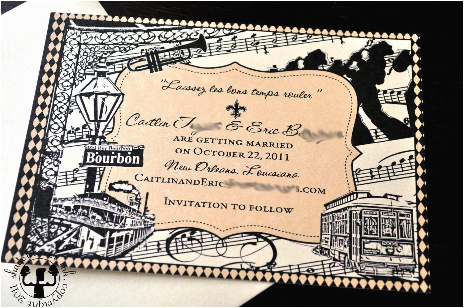 New orleans Wedding Invitations New orleans Save the Date
