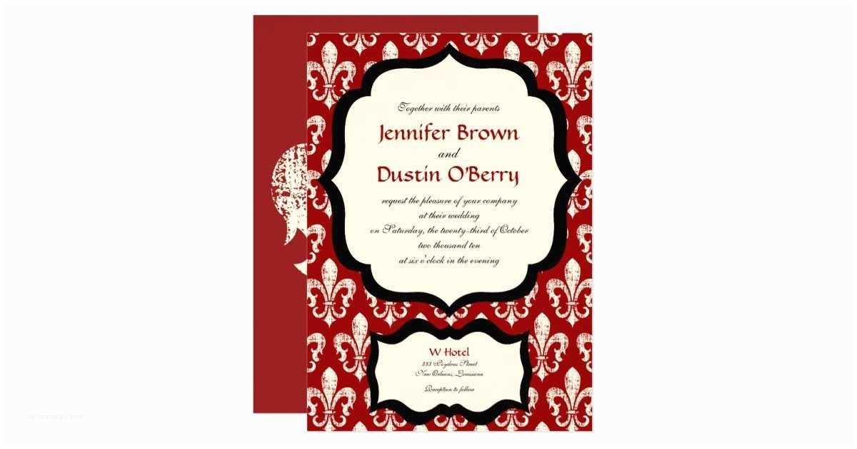 New orleans Wedding Invitations New orleans Wedding Invitation