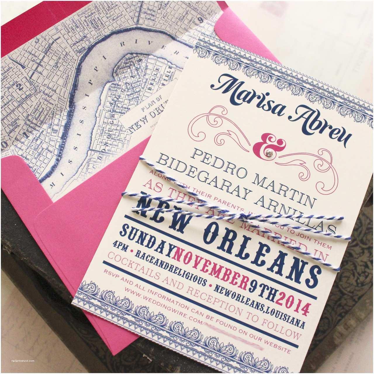 New orleans Wedding Invitations Typography Wedding Invitation New orleans