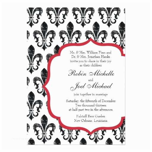 New orleans Wedding Invitations Wedding Invitation New orleans Red