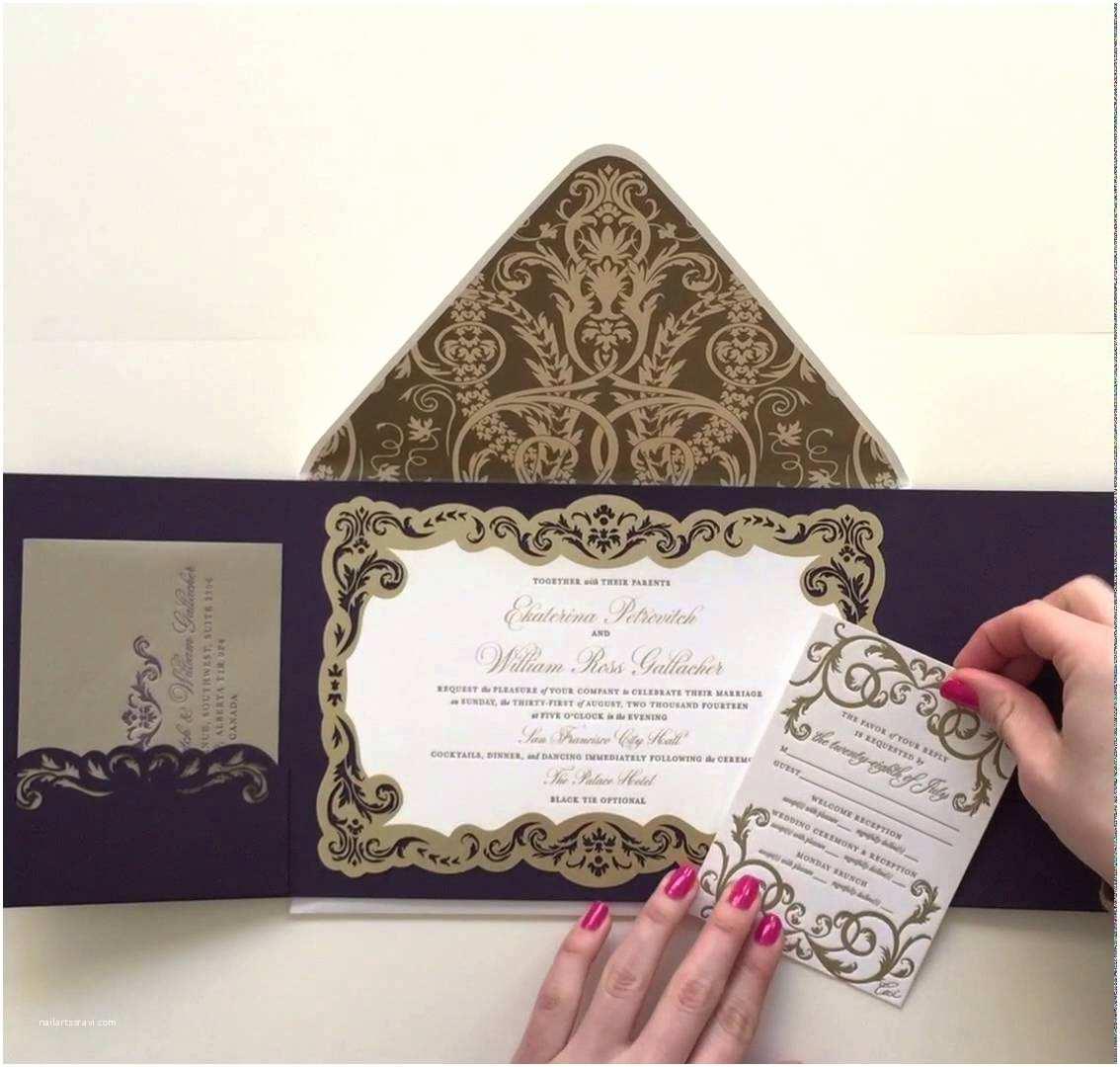 New Wedding Invitations Luxury Gatefold Wedding Invitation by Ceci New York