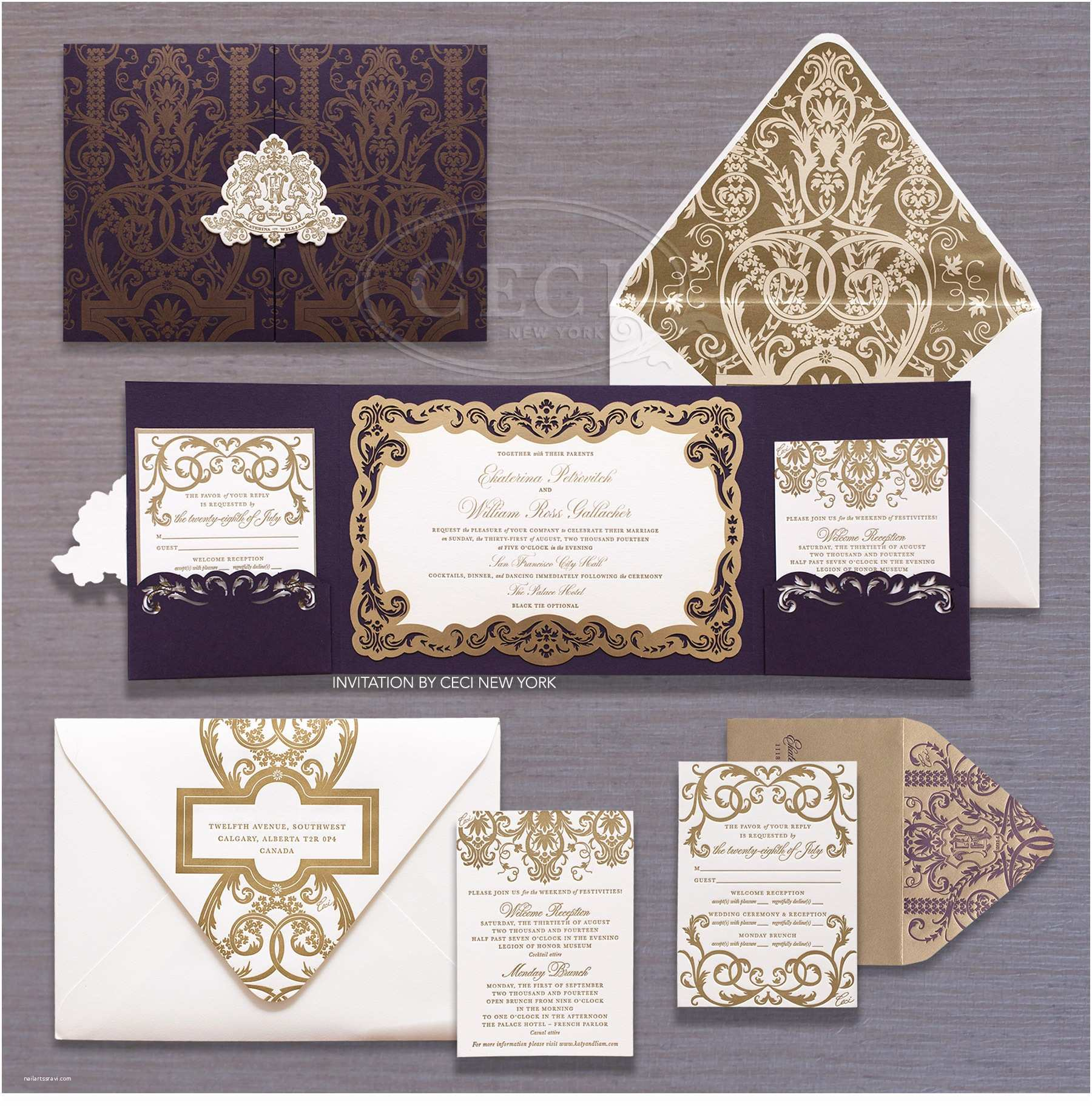 New Wedding Invitations Luxury Wedding Invitations by Ceci New York Our Muse
