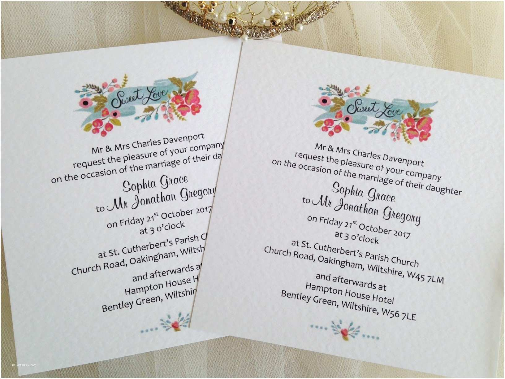 New Wedding Invitations New Wedding Stationery Ranges Daisy Chain Invites