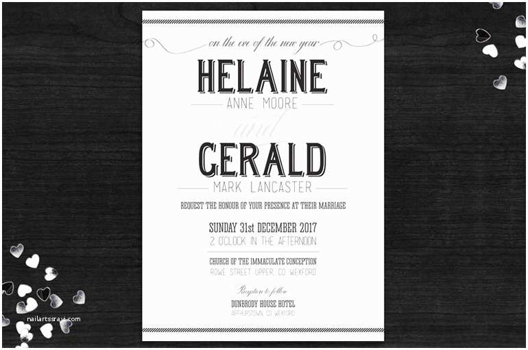 New Wedding Invitations New Year S Eve Wedding Invitations