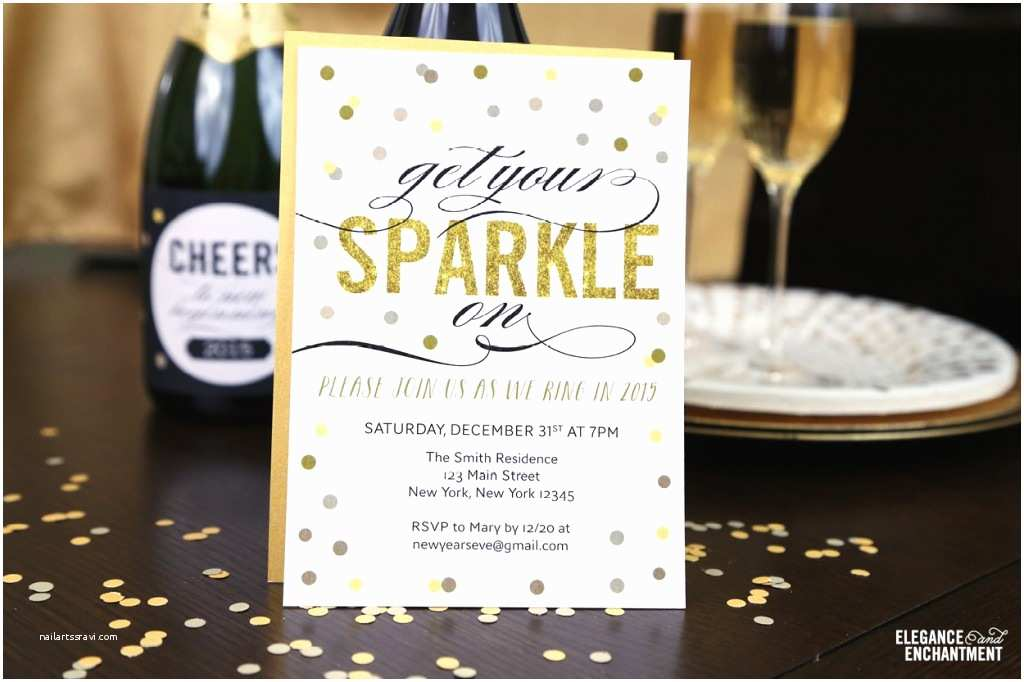 New Years Eve Party Invitations Free Printable New Year S Eve Party Invitation