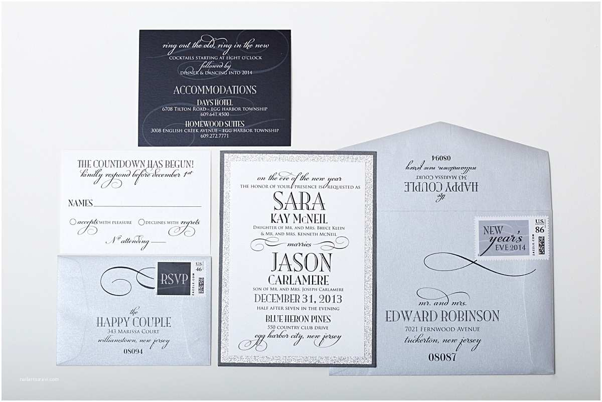 New Years Eve Wedding Invitation Ideas New Years Eve Wedding Ideas Gourmet Invitations