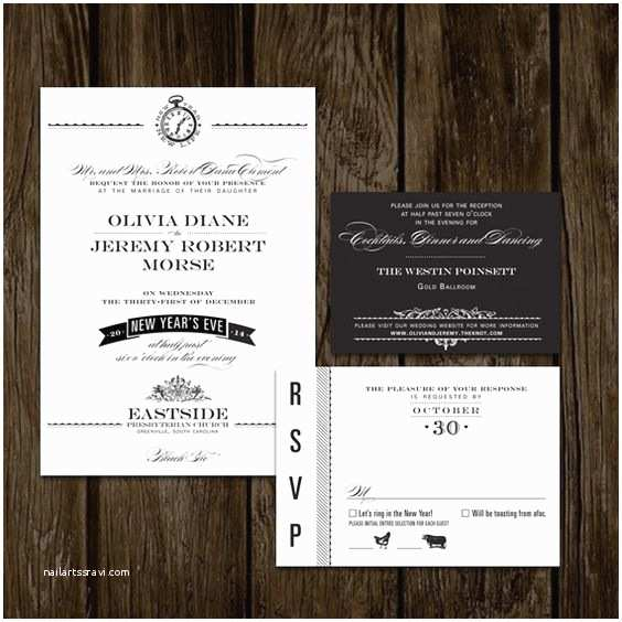 New Years Eve Wedding Invitation Ideas New Years Eve Wedding Invitations
