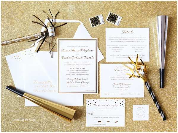 New Years Eve Wedding Invitation Ideas New Years Eve Wedding Invitations Sansalvaje