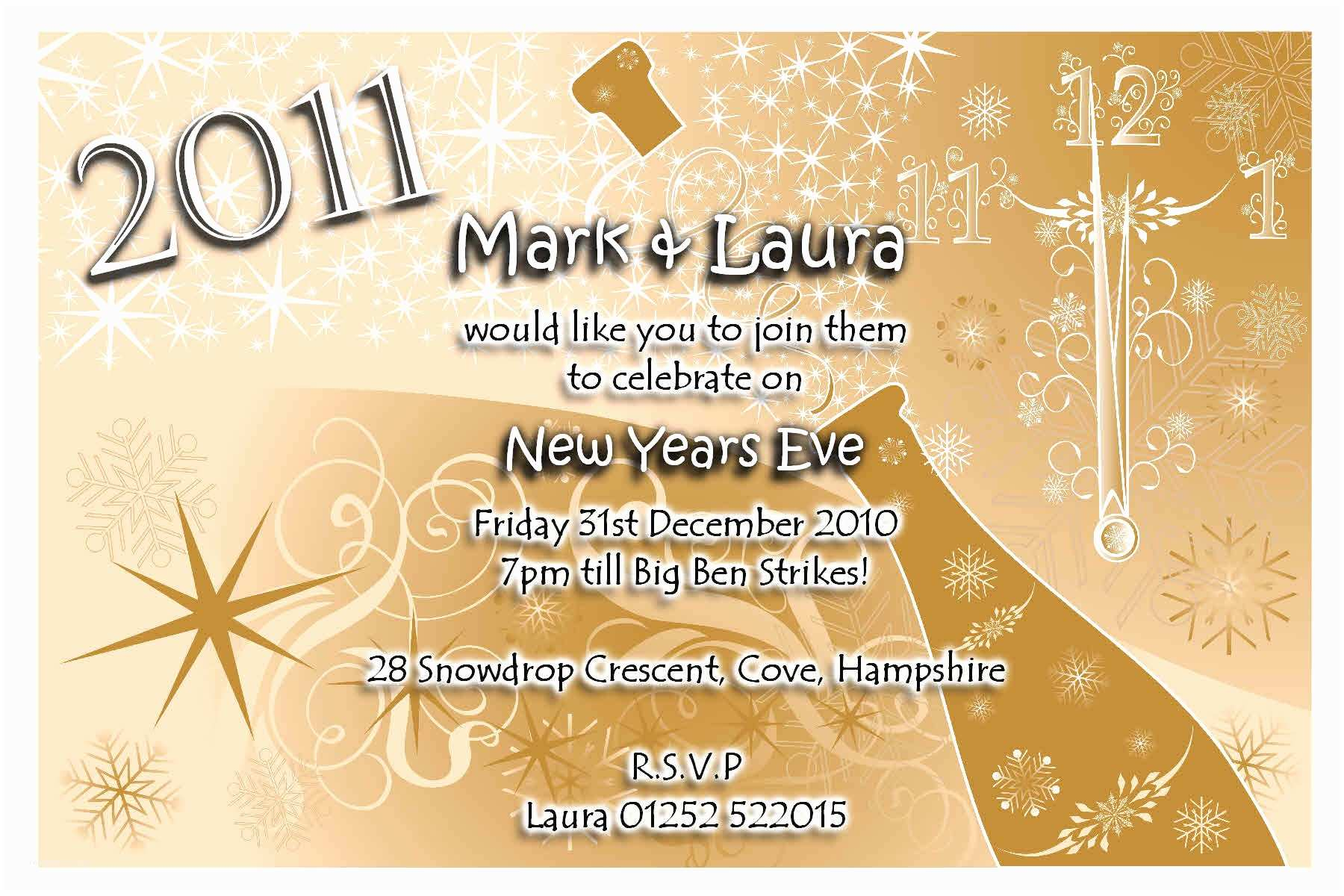 New Years Eve Wedding Invitation Ideas Party Invitations 10 Best New Years Eve Party Invitations
