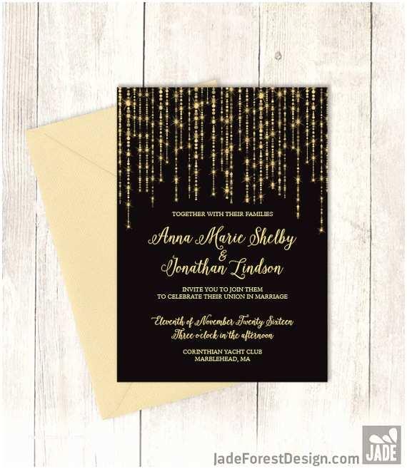 New Years Eve Wedding Invitation Ideas Printable New Year S Eve Wedding Invitations
