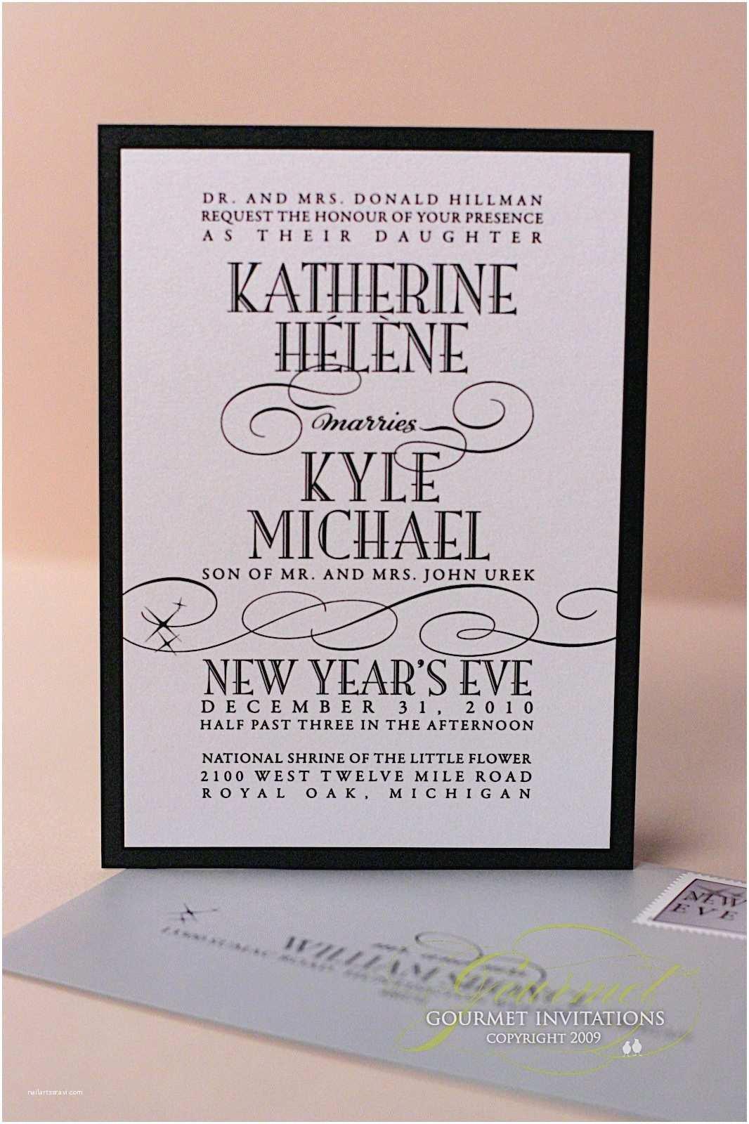 New Years Eve Wedding Invitations Kathryn Kyle New Years Eve Wedding Invitations