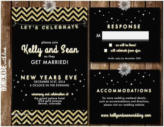 printable new years eve wedding invitations
