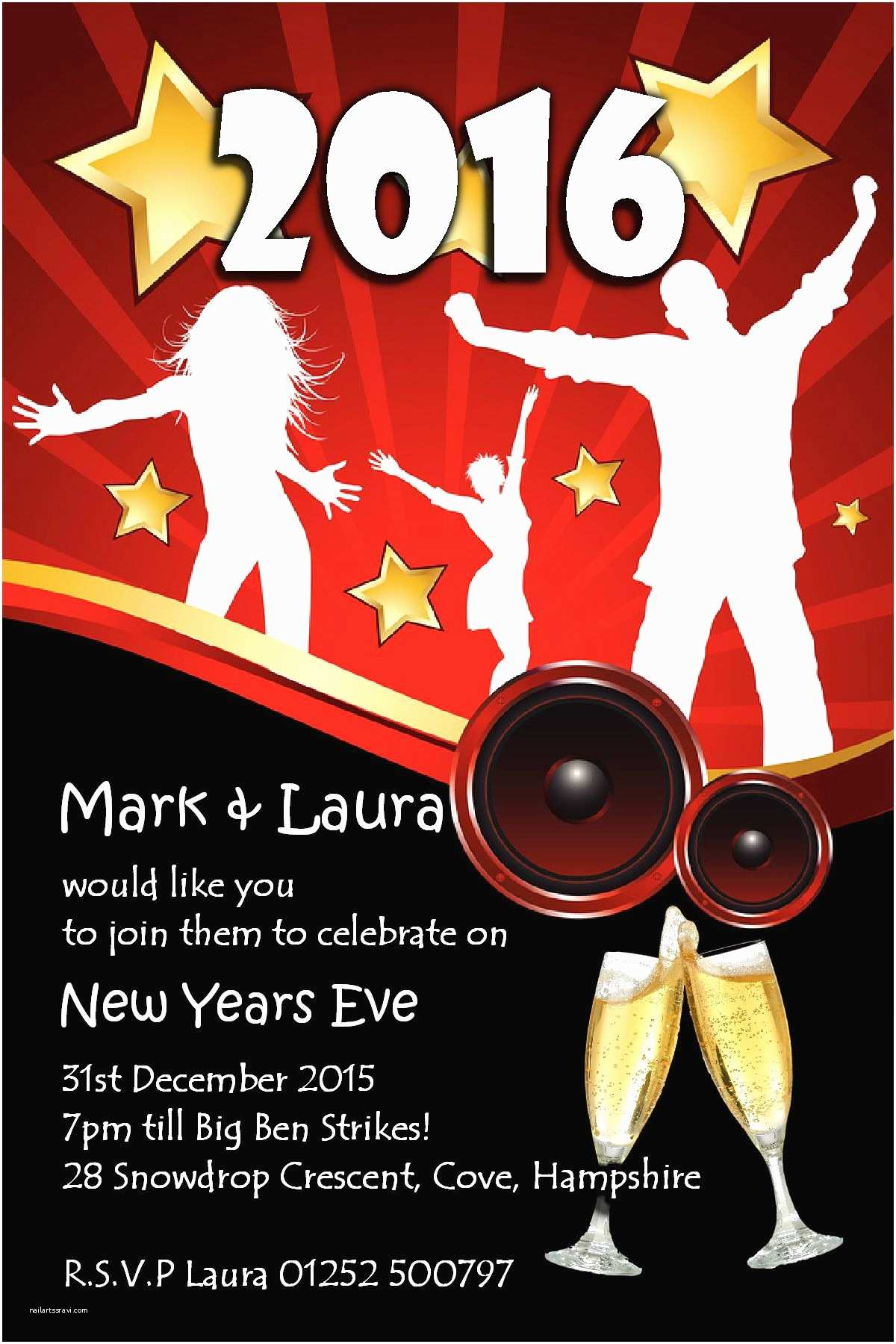New Years Party Invitations 10 Personalised New Years Eve Party Invitations No5