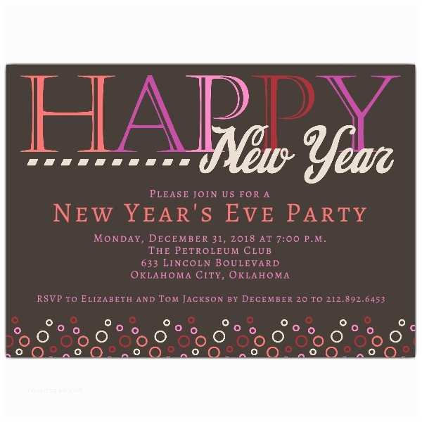 Bubbly New Years Eve Party Invitations p 635 75 612