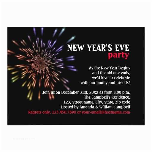 New Years Party Invitations Fireworks New Year S Eve Party Invitations