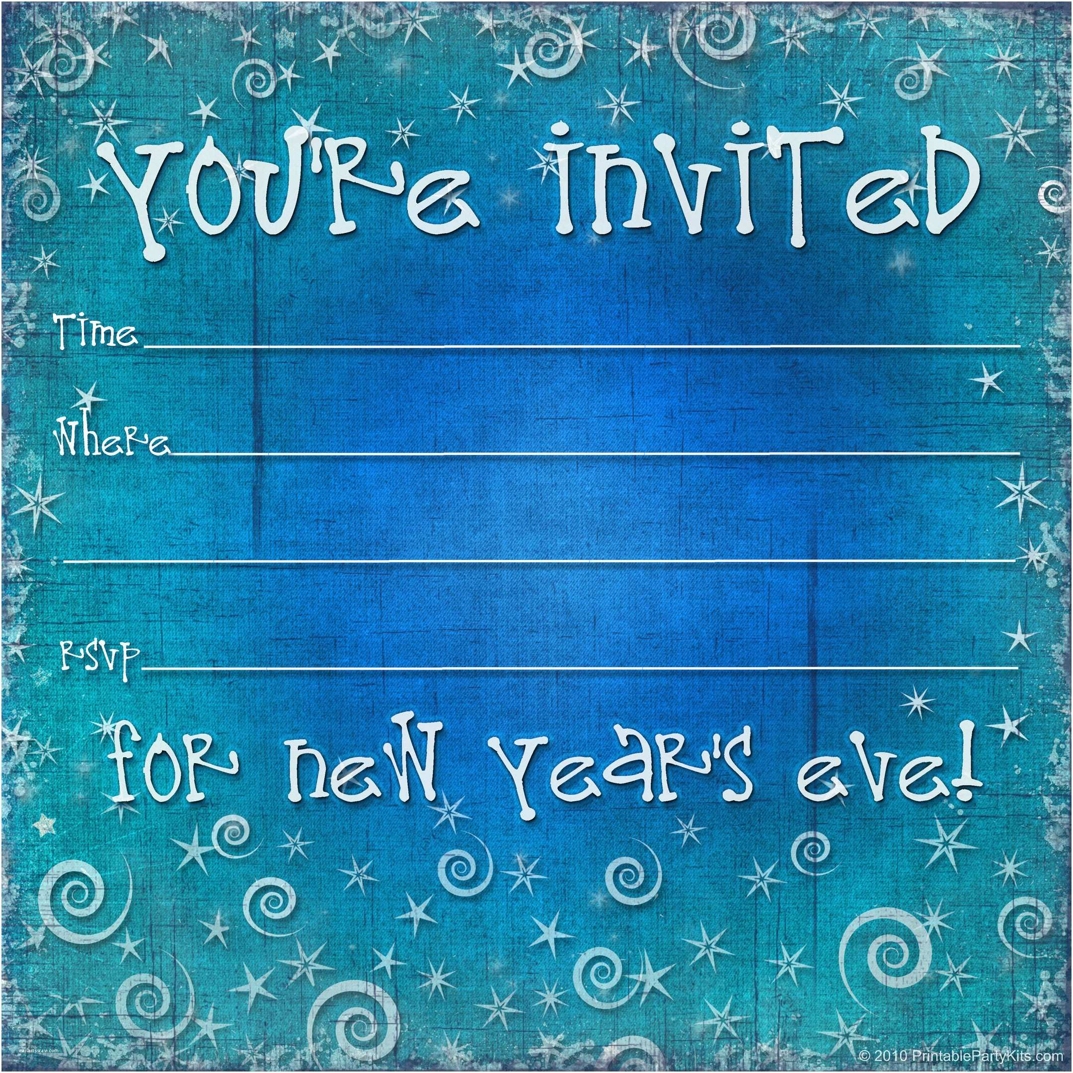 New Years Party Invitations Free Printable New Years Eve Party Invitation Template