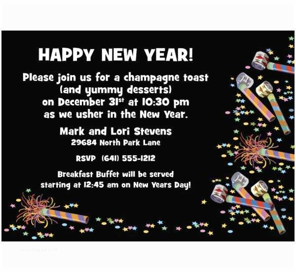 New Years Party Invitations New Year S Eve
