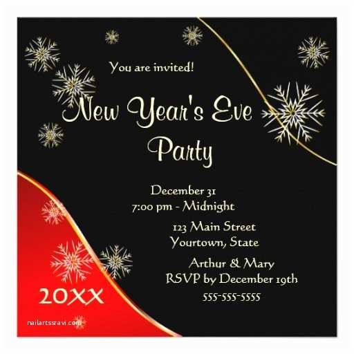 """New Years Party Invitations New Year S Eve Party 2015 5 25"""" Square Invitation Card"""