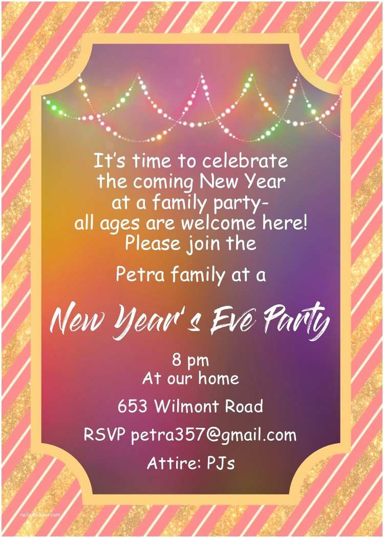 New Years Party Invitations New Year Eve Party Invitations Happy