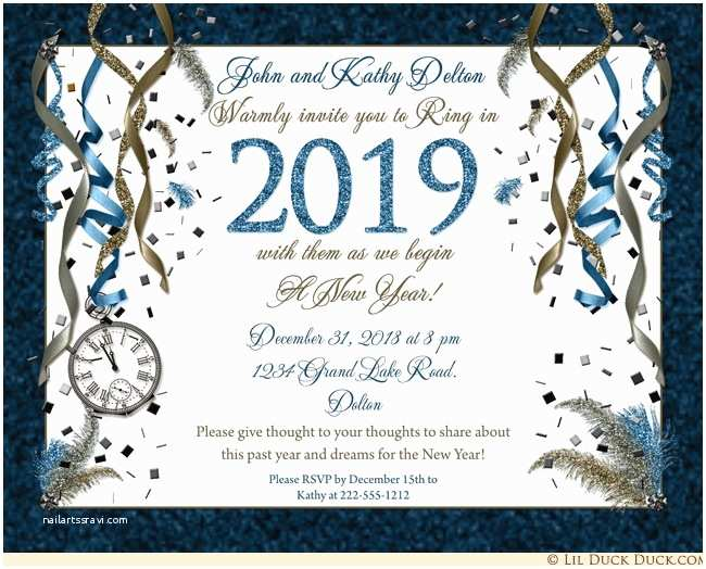 New Years Party Invitations New Year Eve Party Invitations – Happy ...