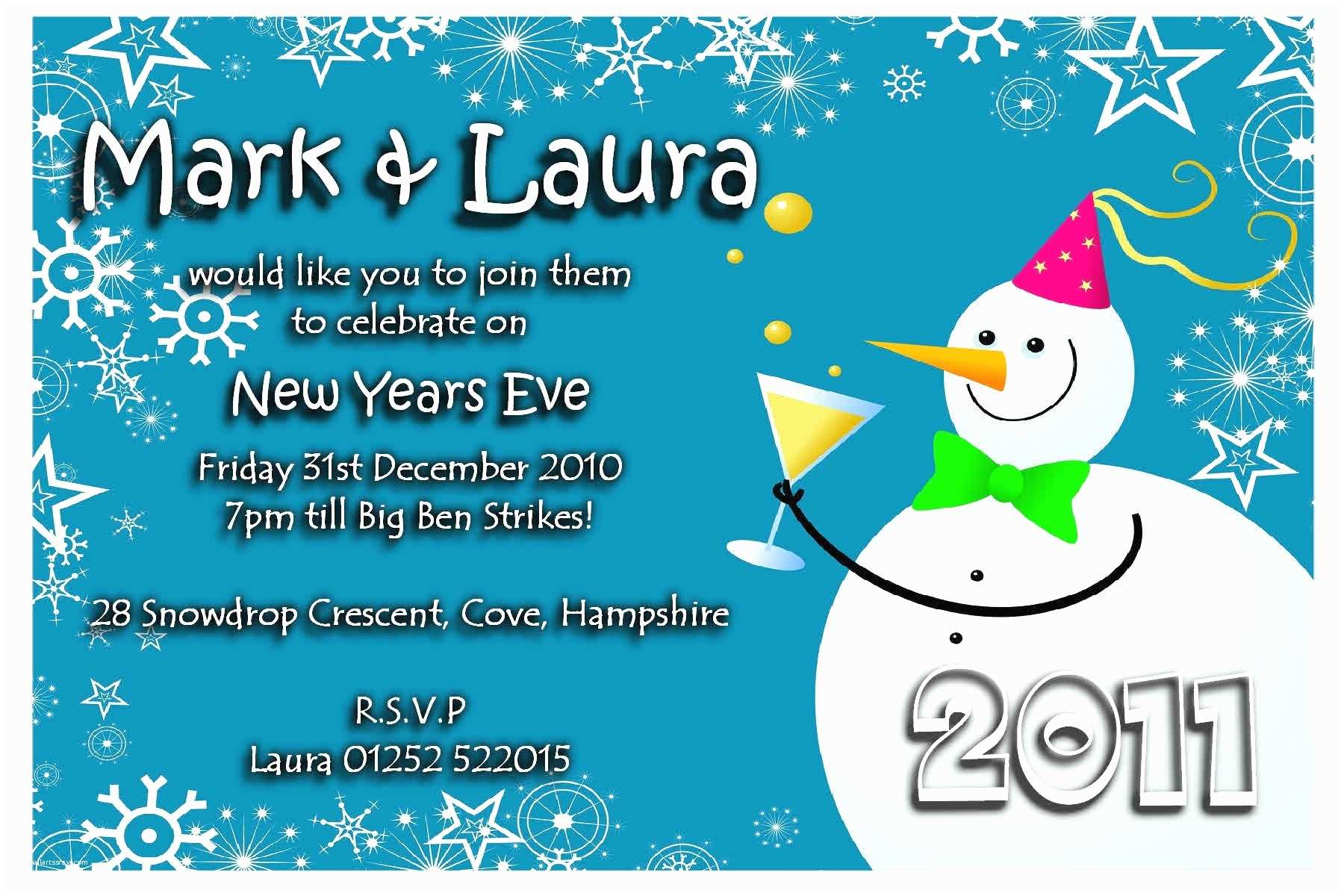 New Years Party Invitations New Years Eve Invitation Wording Template Resume Builder