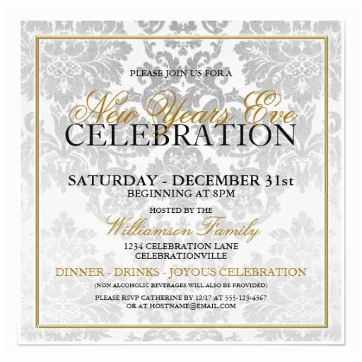 New Years Party Invitations New Years Eve Party Invitation