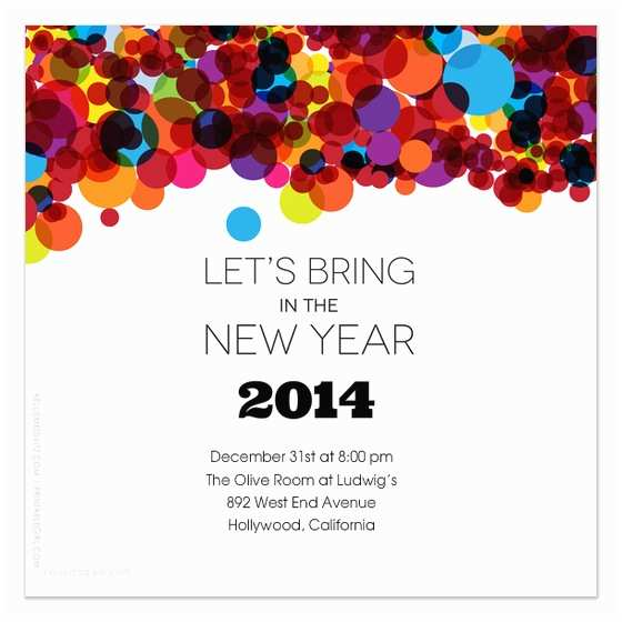 New Years Party Invitations New Years Party Invitations
