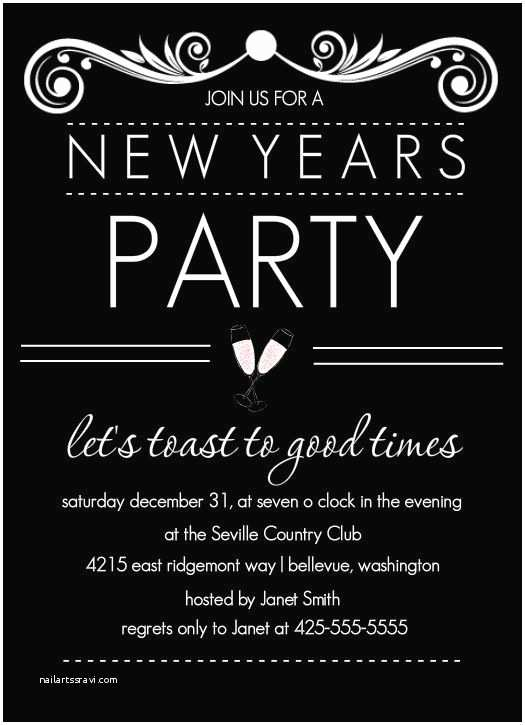 New Years Party Invitations Nye Party Invitation by Purpletrail New Years Eve