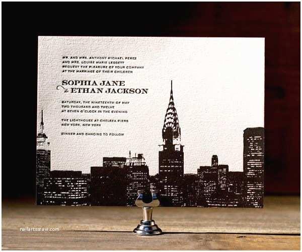 New York Wedding Invitations Bar Mitzvah Ideas Mitzv New York themed Wedding