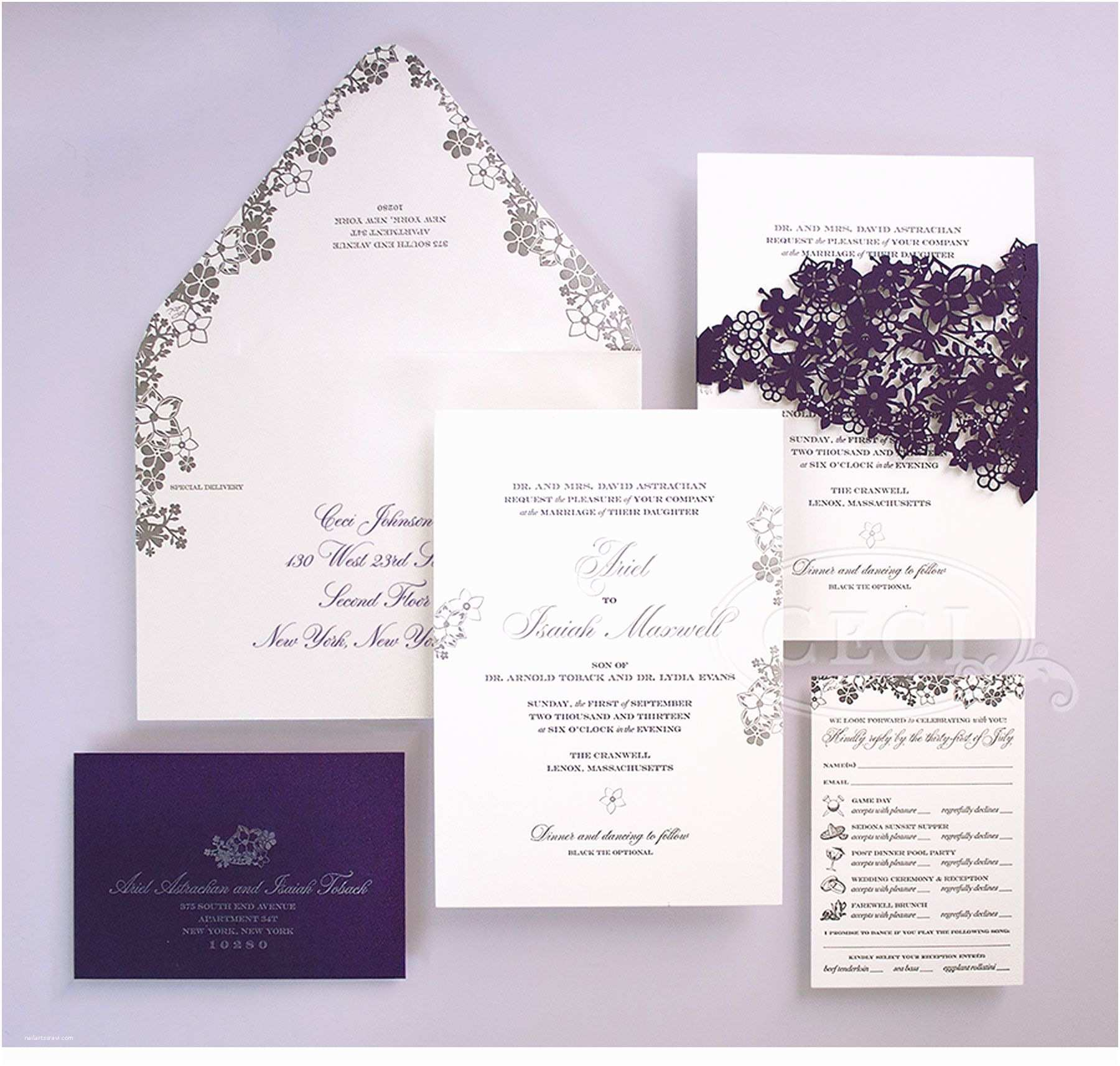 New York Wedding Invitations Luxury Wedding Invitations by Ceci New York Our Muse