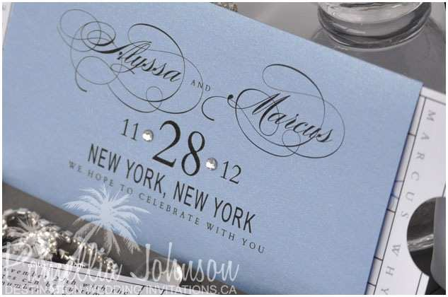 New York Wedding Invitations New York Destination Wedding Invitation