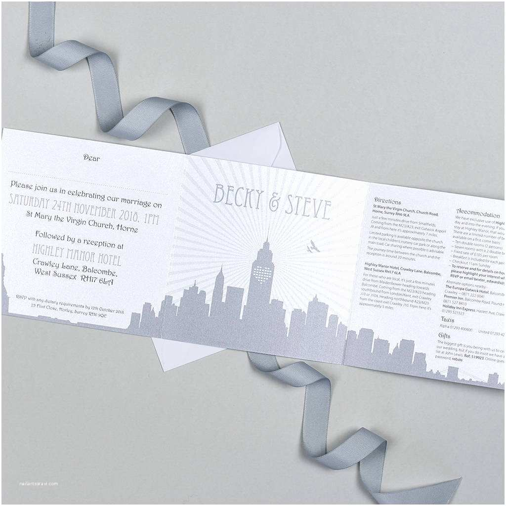 New York Wedding Invitations New York Wedding Invitation by Michelle Fiedler Design