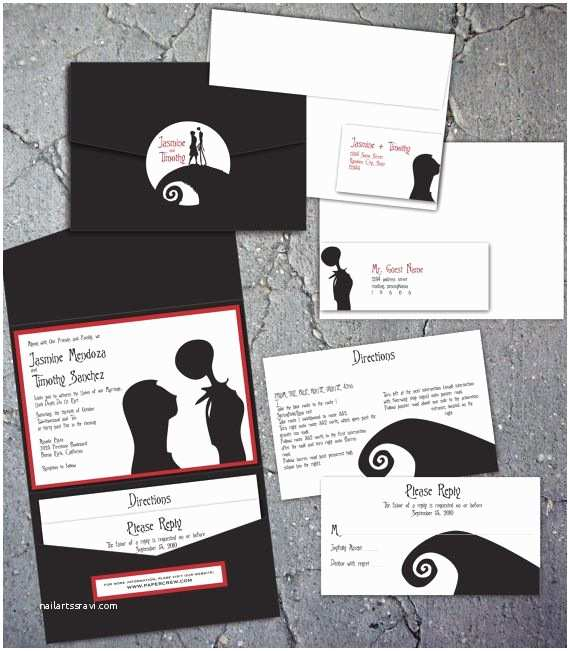 Nightmare before Christmas Wedding Invitations 63 Best Images About Nightmare before Christmas Wedding On