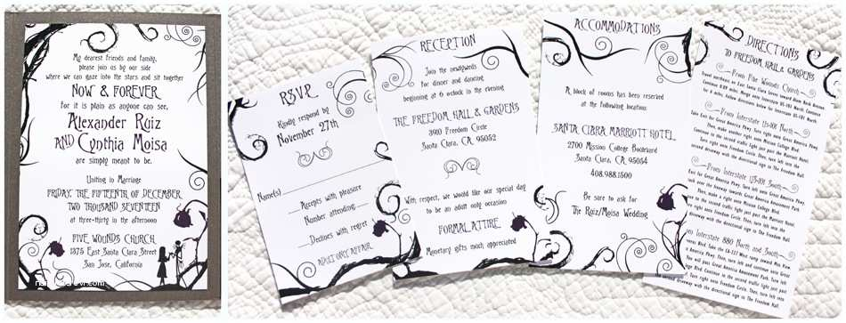 Nightmare before Christmas Wedding Invitations Floral Archives Emdotzee Designs