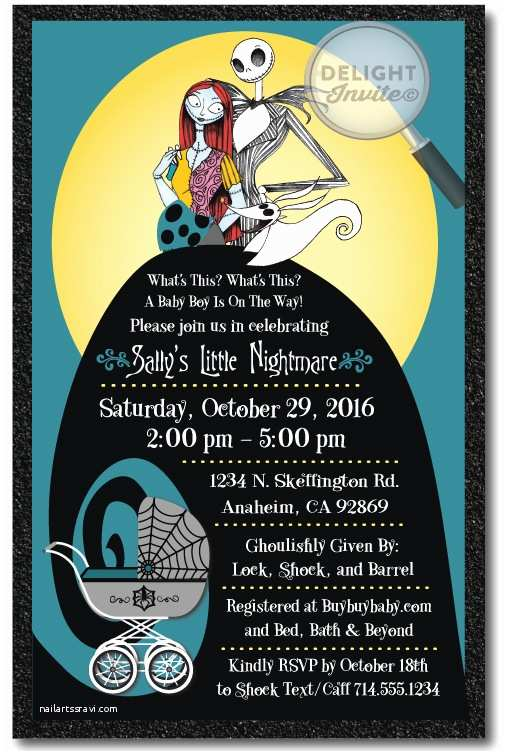 Nightmare before Christmas Wedding Invitations Nightmare before Christmas Baby Shower Invitation [di 4525