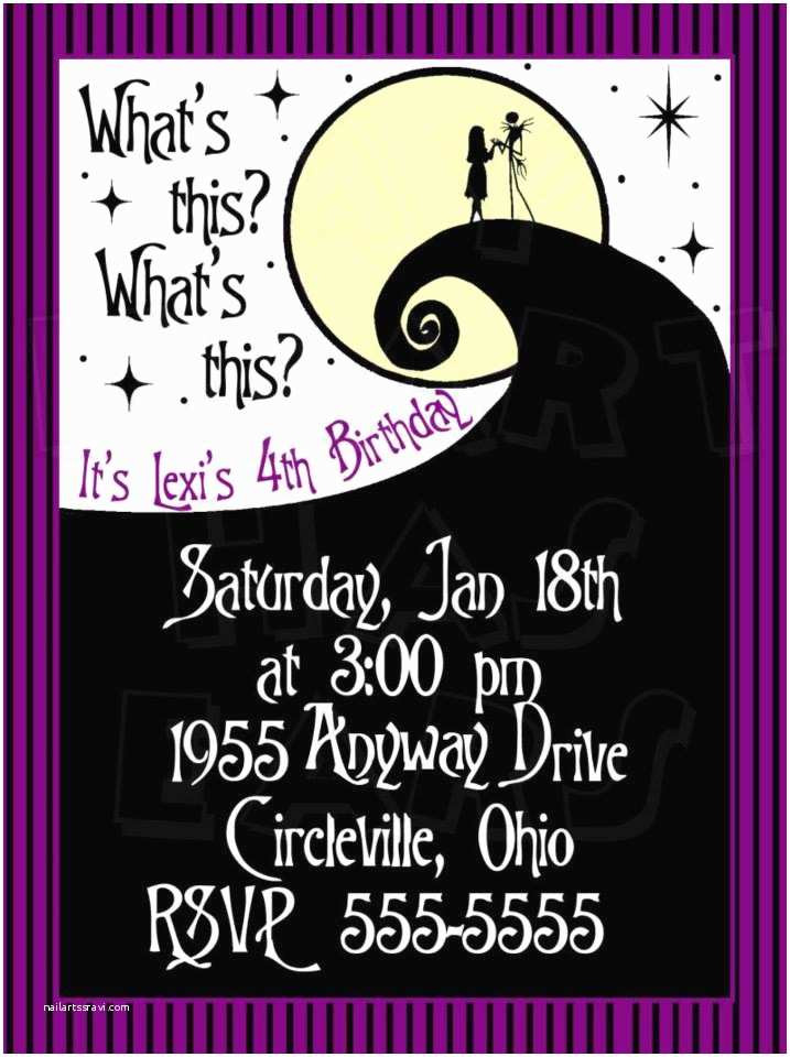 Nightmare before Christmas Wedding Invitations Nightmare before Christmas Birthday Custom Digital