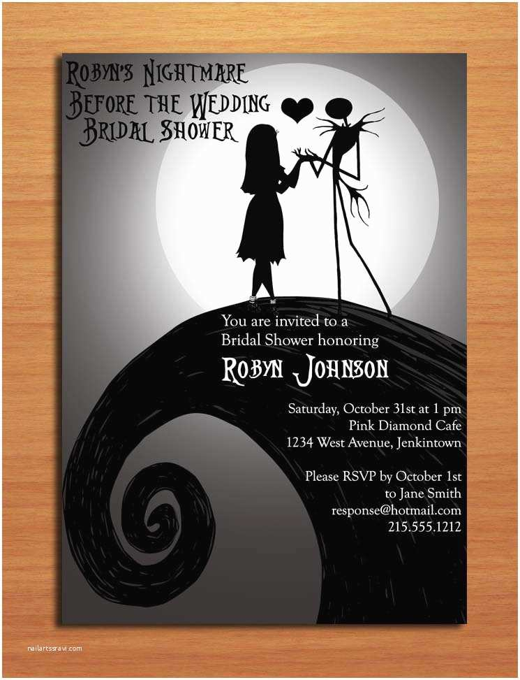 Nightmare before Christmas Wedding Invitations Nightmare before Christmas Bridal Shower Customized