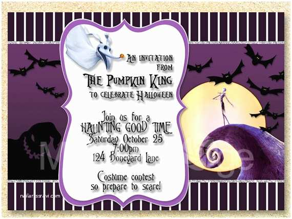 Nightmare before Christmas Wedding Invitations Nightmare before Christmas Bridal Shower Invitations